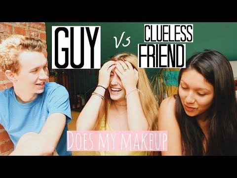 GUY vs. CLUELESS GIRL do my makeup | Kaela Kilfoil