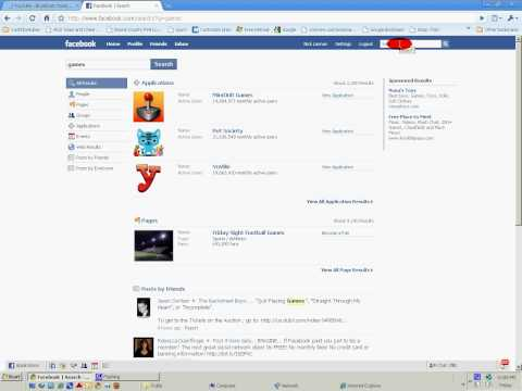 How to find games on Facebook