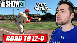I AM DETERMINED TO GO 12-0 IN MLB THE SHOW 21 BATTLE ROYALE...