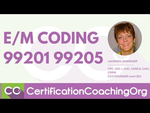 EM Codes 99201 99205 - EM Coding Question