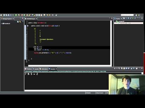 Programming for Beginners in Java - 7 - Modulus and Increment Operators