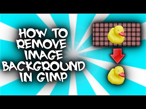How to remove the background from an image (GIMP 2 tutorial - 2017)