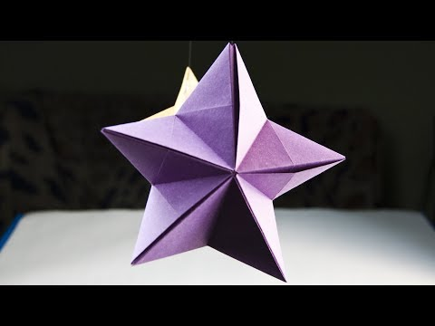 How to make a paper Christmas ornament - Modular star