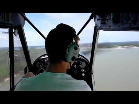 1977 Piper SuperCub float flying