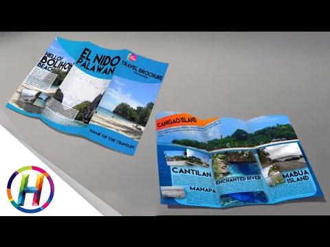 Adobe Photoshop Travel Brochure Mocked Up
