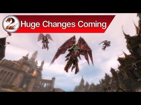 Guild Wars 2: Gliding in World vs World, Territories & Converting Ascended to Legendary Gear Coming!