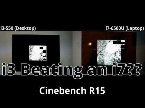 Can a laptop CPU beat a desktop CPU? ( i7-6500U vs i3-550 )
