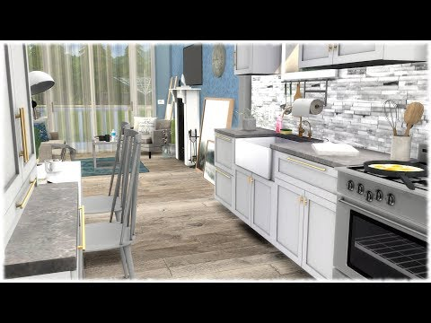 The Sims 4: Speed Build // CUTE OPEN APARTMENT + CC LINKS
