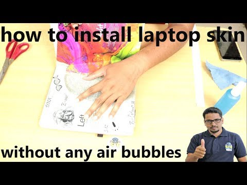 Hindi || how to install laptop skin