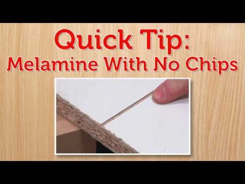Cut Melamine With No Chips