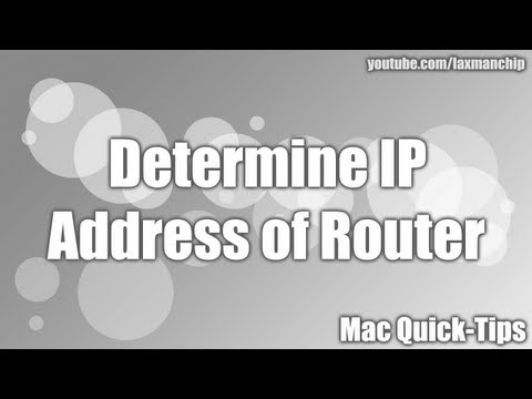 Determine IP Address of Router (Mac)