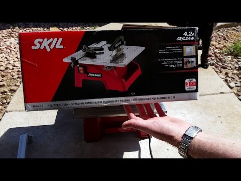 SKIL - SKILSAW Wet Tile Saw Review