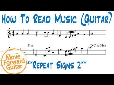 How to Read Music (Guitar) - Repeat Signs 2