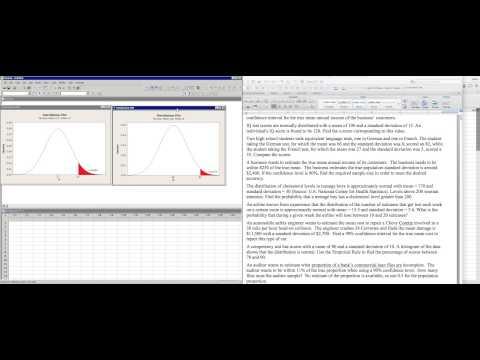 Normal Curve Compare Two Scores Minitab vs StatCrunch