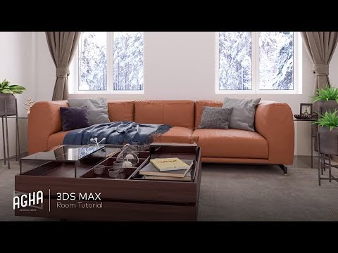 3Ds Max 2018 Vray 3.6 Interior Sofa Tutorial + Photoshop