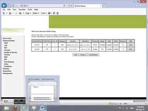 PTCL Smart TV PC app Modem settings help