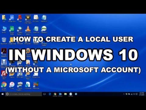 Create Local User in Windows 10