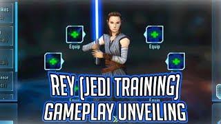 Rey (Jedi Training) Gameplay Unveiling! | Star Wars: Galaxy of Heroes