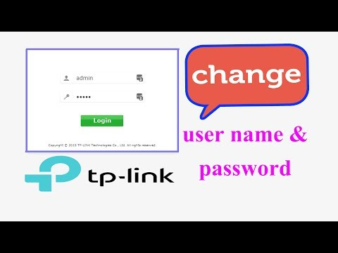 How to change tp link router admin password I Change tp link Wifi Router Username And Password
