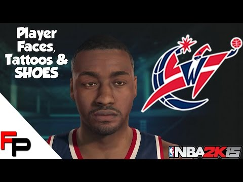 NBA 2K15 - Washington Wizards - Player Faces, Tattoos and Shoes