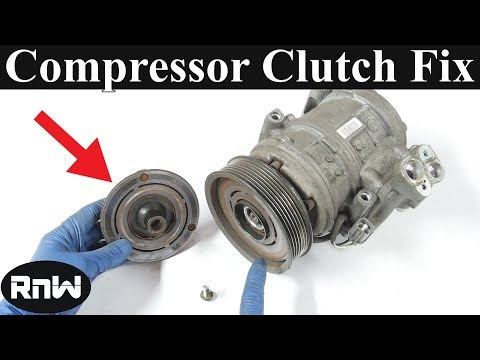 How to Remove and Replace an AC Compressor Clutch and Bearing - Quick Version