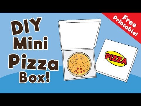 DIY Mini Pizza Box Tutorial – Cool Paper Craft for Kids