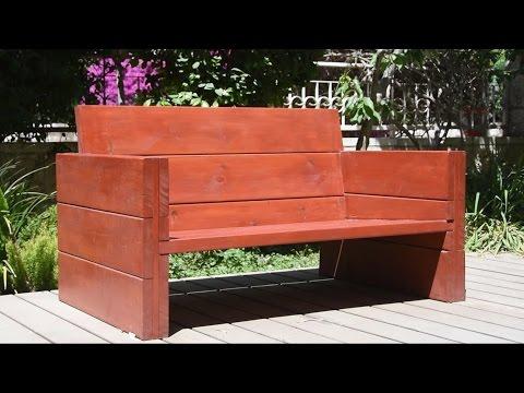 Bulding A Garden Bench - woodworking