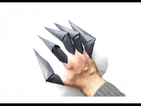 How to make a Paper Claws? (Wolverine claws easy way)