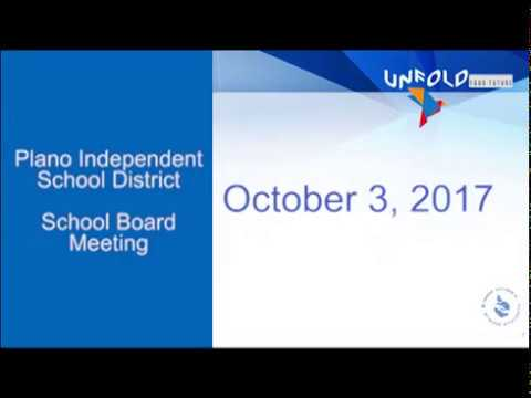 School Board Meeting - October 3, 2017