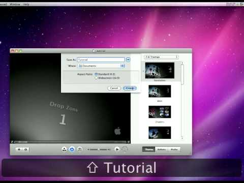 Mac Tutorial making a DVD menu for a iMovie movie and burning it on a disk