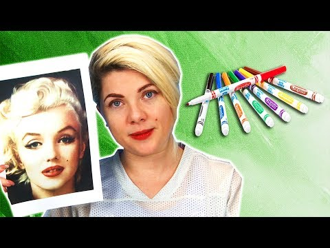 Women Try Full Face of Makeup Using Sharpies