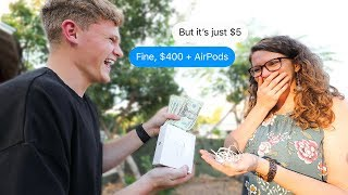 I highballed people on Facebook Marketplace, then actually paid them