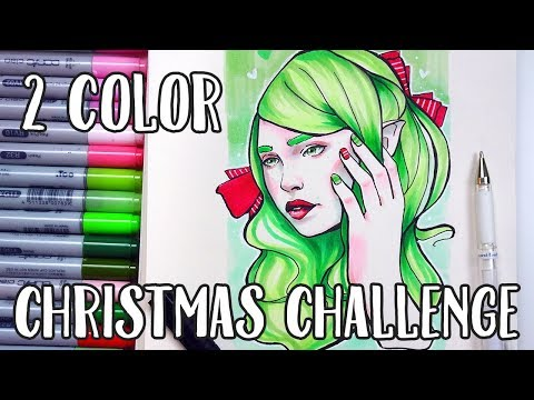2 COLOR CHALLENGE 【Copic Christmas Illustration】