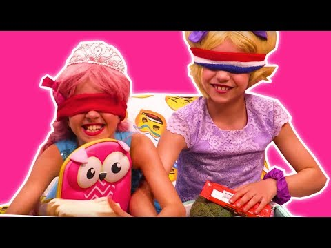 LUNCH BOX CHALLENGE 🥦 Make Lunch Blindfolded + Slime Prank - Princesses In Real Life | Kiddyzuzaa