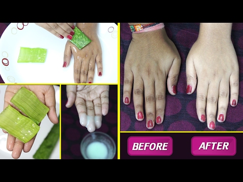 Instant SKIN WHITENING TREATMENT using Aloe Vera/ 100% Works Natural Fair Skin