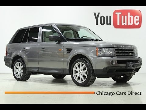 Chicago Cars Direct Presents a 2008 Land Rover Range Rover Sport 4x4. Stornoway Grey/Ivory. #153846