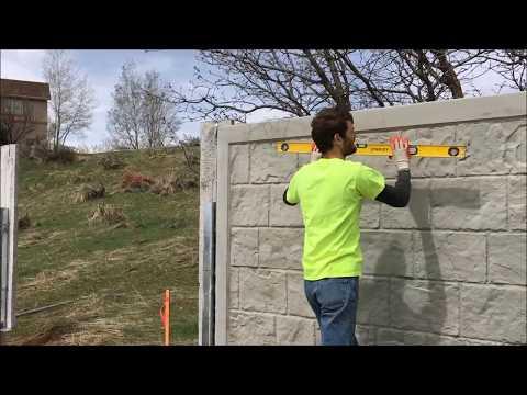 DIY Rhinorock concrete fence