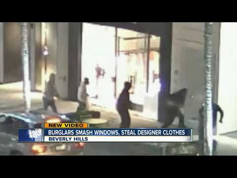 Burglars smash windows, steal designer clothes in Beverly Hills