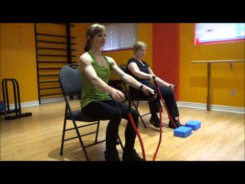 Cardio and strength on a chair #3. Resistance training.(for people with low body injury)