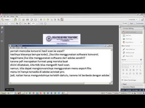 Konversi Pdf Scan ke Excel Menggunakan Adobe Acrobat Pro