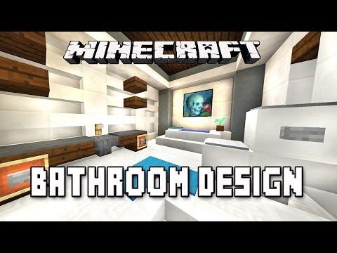 Minecraft Tutorial:  How to Make A Modern Bathroom Design   (Modern House Build  Ep.16)