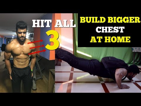 Chest Workout At Home (Upper, Mid, Lower Chest) | Complete Home Workout Routine