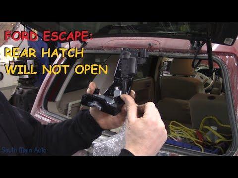 Ford Escape: Rear Hatch Latch Repair