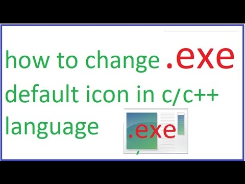 how to change exe default icon in  c language