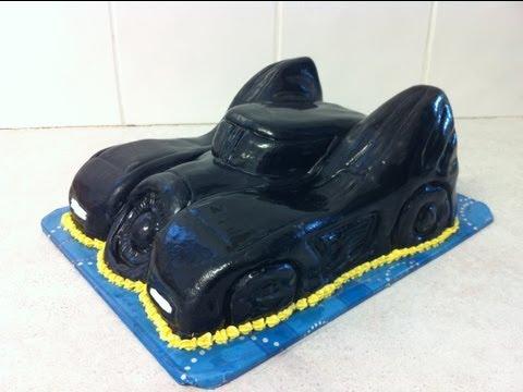 Batmans Batmobile Cake ( How-To)