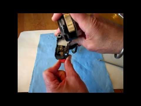 Clean Headlight Switch of Old Motorcycle And How It Works