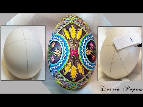 DIY Egg Art Tutorial - How to Make Perfect Circles & Ovals on an Egg with a Measuring Tape Ruler