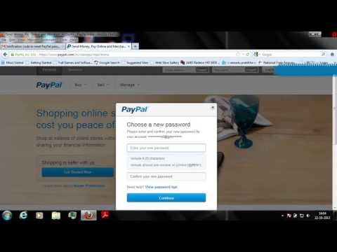 paypal how to change forgotten password of paypal account