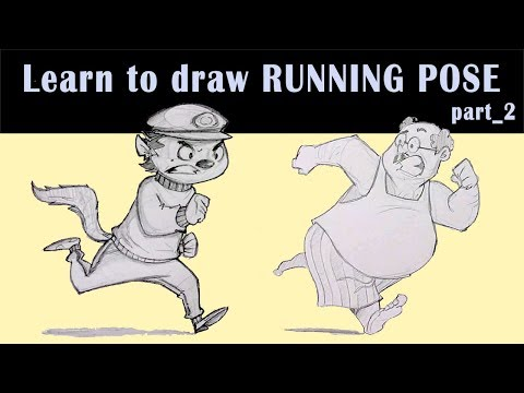 How to draw a running pose part 2 | Cartoon style | RinkuArt