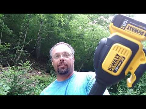 Dewalt 20 volt Max Weedeater review with editing goof.